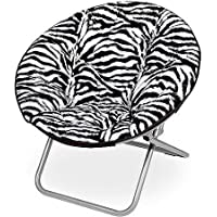 Mainstays Faux-Fur Saucer Chair, Zebra (Zebra)