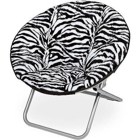 Adjustable Mainstays Faux Fur Saucer Comfortable Chair