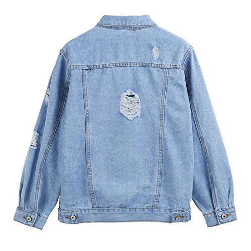 Denim Mantel Damen Btruely Herbst Winter Denim Jacke Vintage langarm lose  Jeans Mantel Outwear (M, Blau)  Amazon.de  Küche   Haushalt db73a1a701