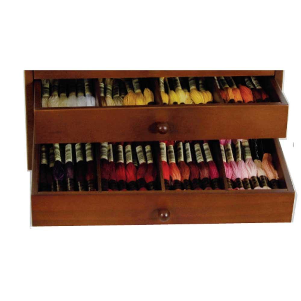 Dmc Thread Cabinet Dmc Wooden Collectors Box Small Amazoncouk Kitchen Home