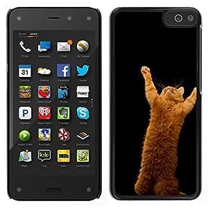EJOY---Cubierta de la caja de protección la piel dura para el / Amazon Fire Phone / --Salta Gato