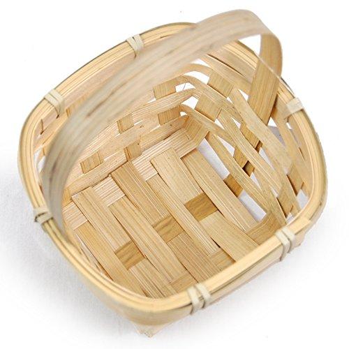 Mini Bamboo Handle Basket - 3in