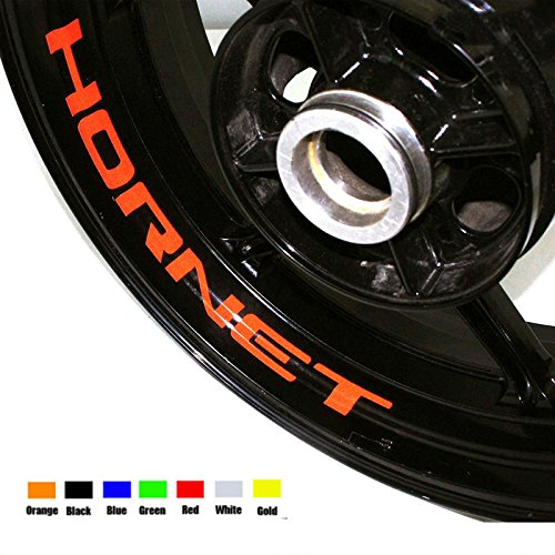 Red 8 X CUSTOM INNER RIM DECALS WHEEL Reflective STICKERS STRIPES For HONDA (Halloween 1517)