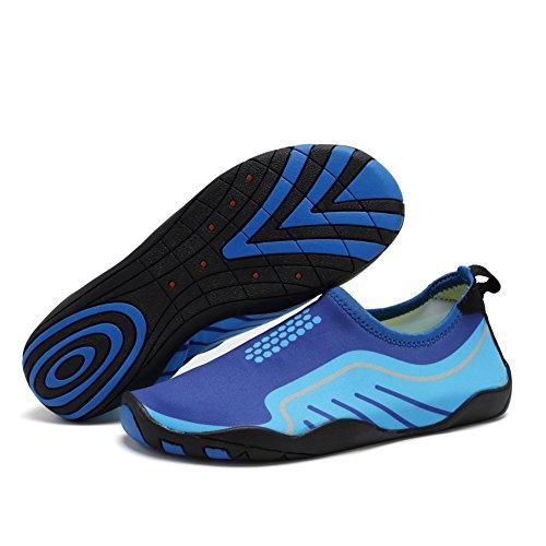 Cior Women Womens Barefoot Quick-dry Sport Acquatici Aqua Shoes Con 14 Fori Di Drenaggio Per Nuotare, Camminare, Yoga, Lago, Spiaggia, Giardino, Parco, Guida Light Blue