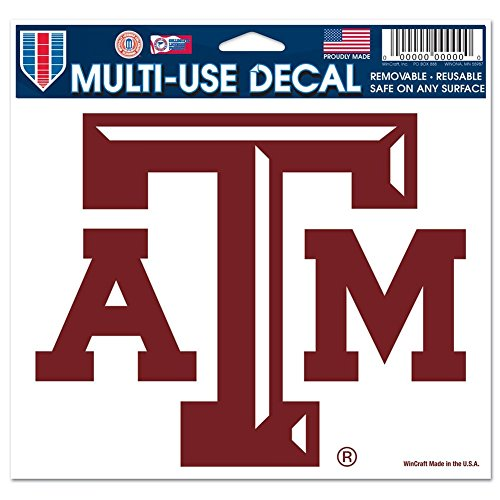 NCAA Texas A&M University 21792091 Multi-Use Colored Decal, 5