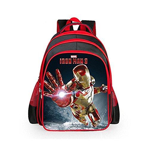 HEYFAIR Children's Cool Cartoon Marvel Heroes School Backpack Rucksack (Iron Man - Iron Man Rucksack
