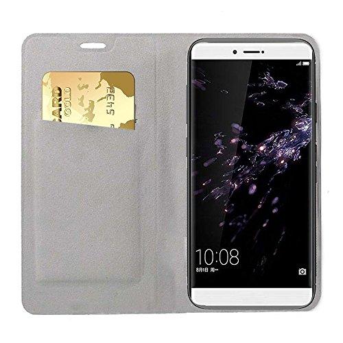 Xiaomi MI 5X Funda, OFU® aspecto delgado caso, PU cuero cartera caso de visualización, cierre magnético, TPU parachoques - Xiaomi MI 5X cuero flip cartera-azul marino gris