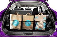 Zone Tech Three Pocket Mesh Storage Net - Black Mesh Three Pocket Trunk Cargo Organizer with 3 Mounting Options