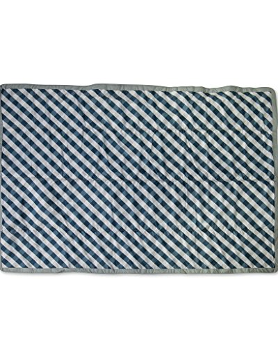 Little Unicorn 5x7 Outdoor Blanket - Navy (Gingham Baby Blanket)