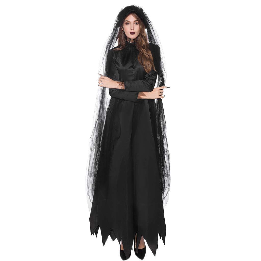 Chirpa Halloween Costume, Fashion Women Halloween Cosplay Sexy Slim Lady Black Bloodsuck Lace Earl Dress by Chirpa