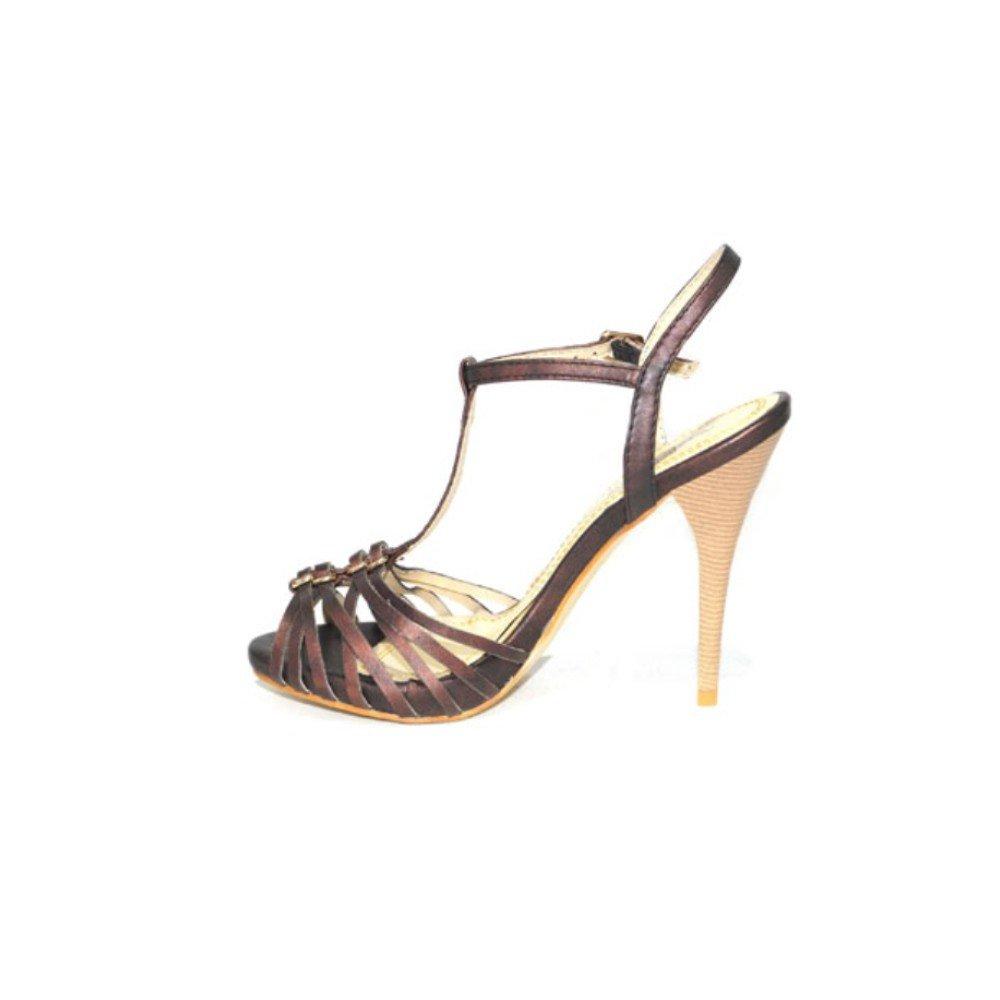 Fiesta Salón Niko Amore Beige Mujer Confort Cómodos Tacón Alto Elegante 1078 Zapatos Color Marrón Sandalia w8On0PkX