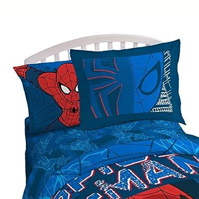 Marvel Spiderman 'Graphic' 4 Piece Full Sheet Set: Home & Kitchen
