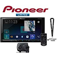 Pioneer AVH-2440NEX 7 DVD Receiver Apple CarPlay SiriusXM Tuner + ND-BC8 Backup Cam and a SOTS Lanyard