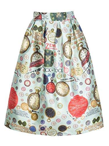 PERSUN Womens High Waist Skirt