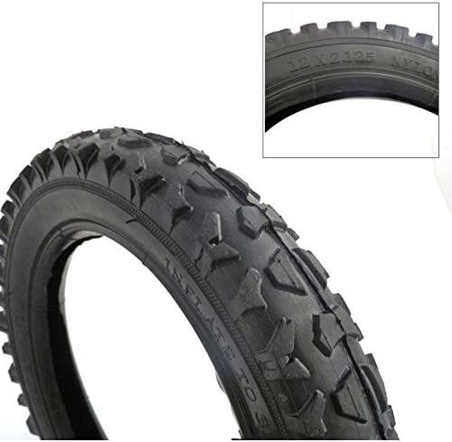 New Bike Bicycle Scooter Stroller Tire 12 1//2 x 2 1//4 White 12 x 2.125
