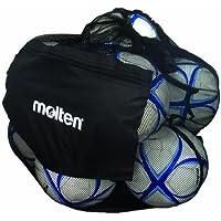 Molten Bolsa de malla para balones, con capacidad para 12 balones de fútbol y vóleibol, negro