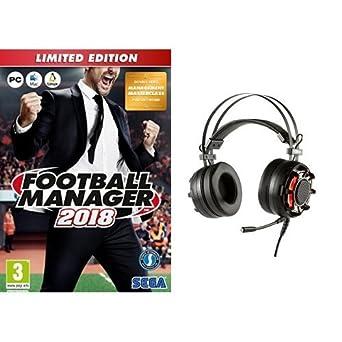 Football Manager 2018 - Limited Edition + Konix Ragnarok - Auriculares con micrófono para juegos,
