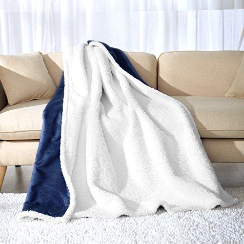 Fassbel Sherpa Throw Blanket Reversible Super Soft Lightweig