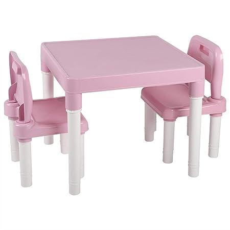 EBTOOLS - Juego de 2 sillas para niños, Mesa de plástico Ligera ...