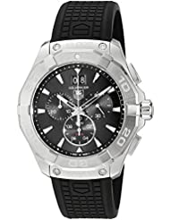 TAG Heuer Mens Swiss Quartz Stainless Steel and Rubber Casual Watch, Color:Black (Model: CAY1110.FT6041)