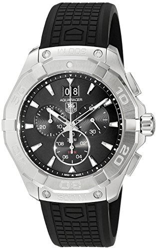 TAG Heuer Men's Swiss Quartz Stainless Steel and Rubber Casual Watch, Color:Black (Model: CAY1110.FT6041)