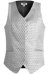 Ed Garments Women\'s V-Neck Fashion Diamond Vest, SILVER, XXX-Large R