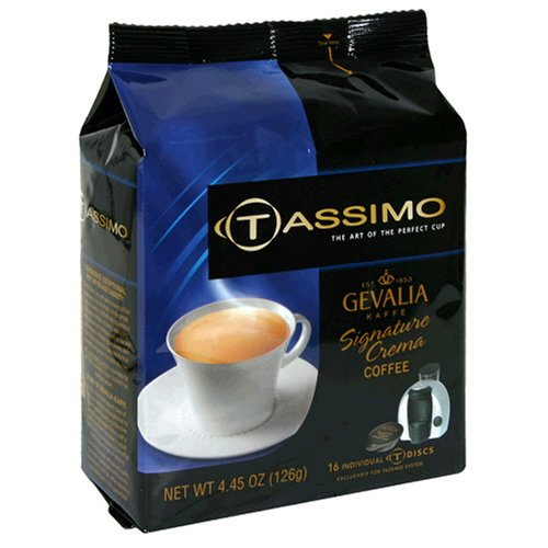 Gevalia Signature Crema Coffee, T-Discs for Tassimo Hot Beverage System, 16-Count Packages (Pack of 2)