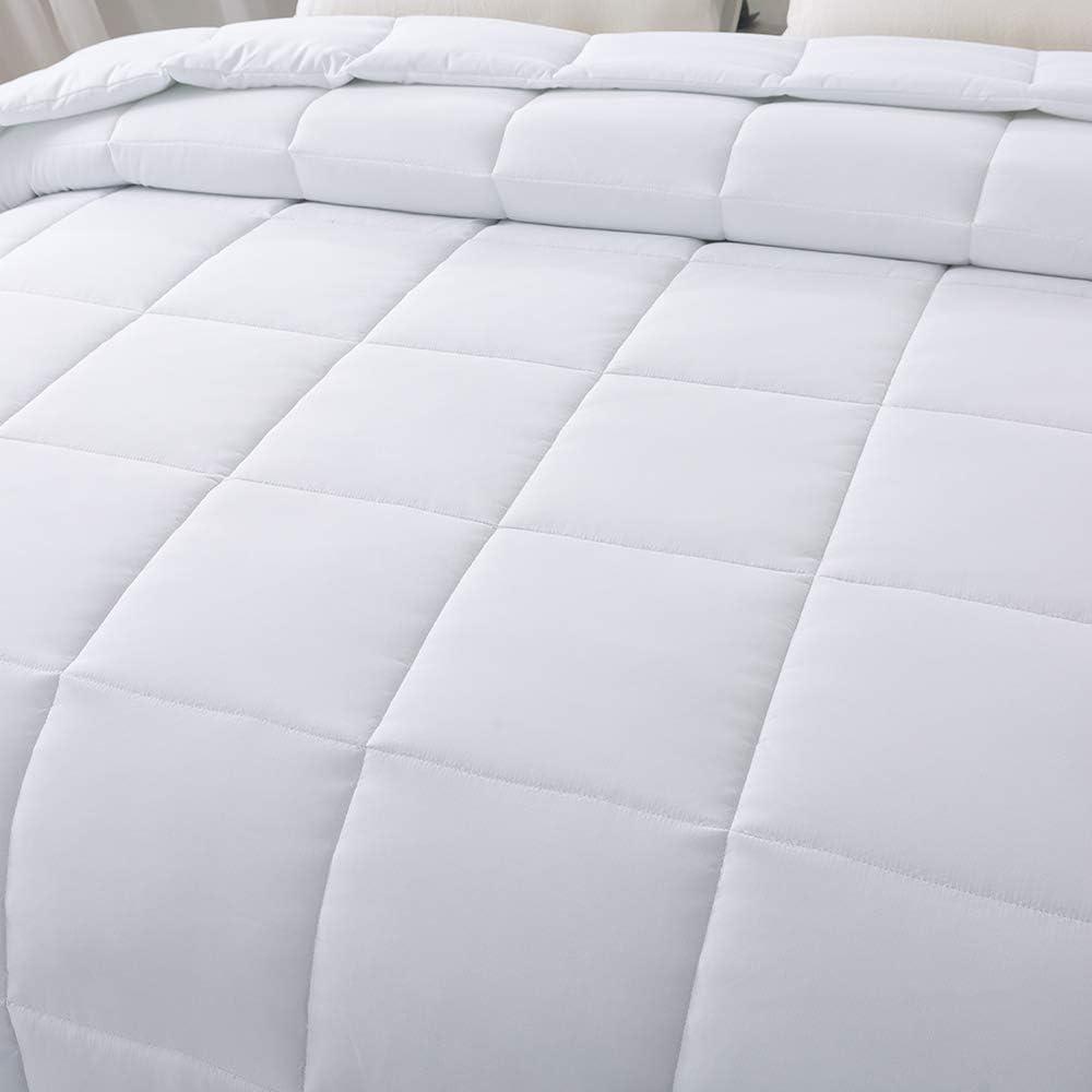 WhatsBedding Duvet Lightweight Stand Alone Cool Comforter Soft White Down Alternative Comforter Bed Comforter King All Seasons Cooling Duvet Insert with Corner Tabs(King Duvet)