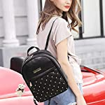 TYPIFY® PU Leather Teddy Keychain Preppy Style Women Backpack