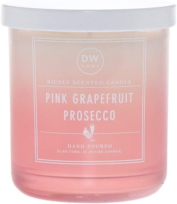 DW Home Hand Poured Richly Scented Pink Grapefruit Prosecco Extra Large Double Wick Candle