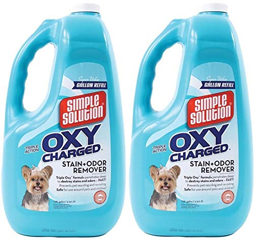 Simple Solution (2 Pack) Oxy Charged Stain Odor Remover (1 Gallon Per Bottle) by Simple Solution