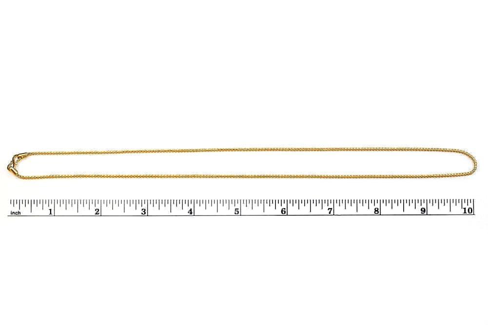 Amazon.com: jewelsforum 22 K Oro Simple Cuerda Enlace Cadena ...