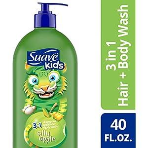 Suave Kids 3 in 1 Shampoo, Conditioner, Body Wash (40 oz Pump)