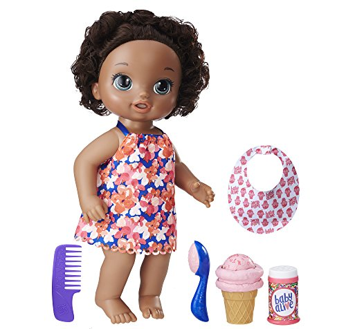 Search : Baby Alive Magical Scoops Baby Doll (African American), Ages 3 and up