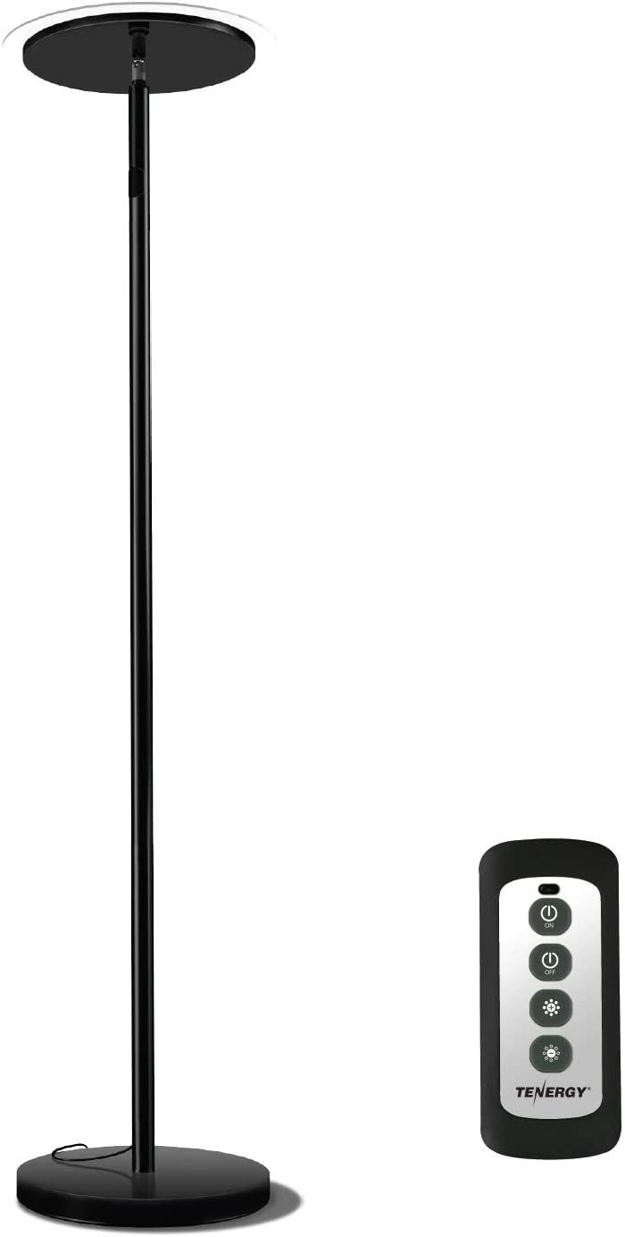 Tenergy Torchiere Remote Control Floor Lamp Led Floor Lamp 30w 150w Equivalent Standing Lamp With Stepless Touch Dimmer Two Part Trip Proof Cable 90 Adjustable Top Warm White Light Home Improvement Amazon Com
