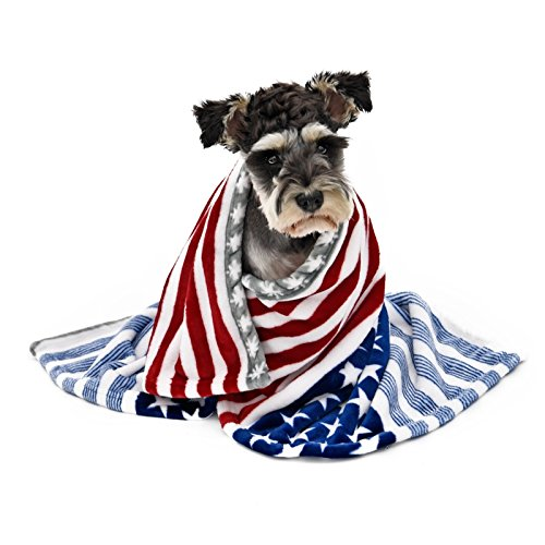 Treading(TM) Super Soft Blanket For Dog Cat Pet Star Striped Towel Fashion Star Puppy Kitten Use Home Travel Anti-hair Loss