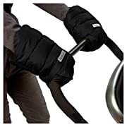 7AM Enfant WarMMuffs 212, Wind and Water-Resistant Stroller Gloves with Universal Fit, Best for Freezing Winter Conditions, (Black, One Size, Set of 2)