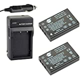 DSTE® 2x NP-120 Battery + DC29 Travel and Car Charger Adapter for Fujifilm Finepix 603 M603 F10 F11 Zoom Pentax Optio 450 550 555 750 750Z MX MX4 Camera as D-LI7 DB-43