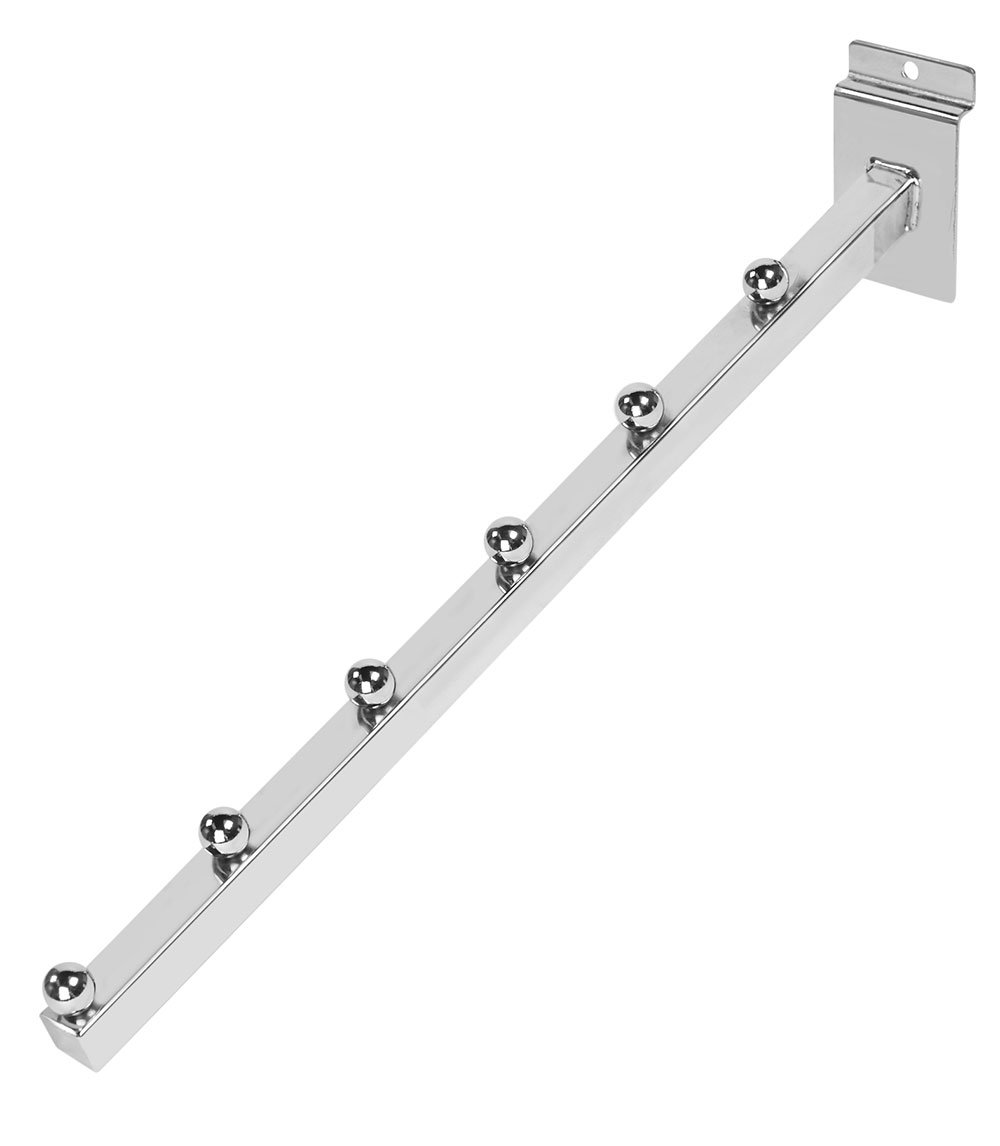 White 6-Ball Waterfall for Slatwall Pack of 10