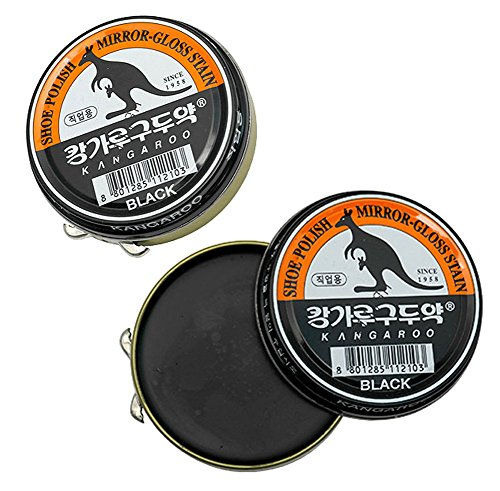 (Black x 3 pcs) Kangaroo Shoe Boots Dyes Polishes Mirror-Gloss Stain Shine Wax For Professional by POST-ART (Image #2)