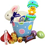 """""""Clucking"""" Cadbury Bunny Easter Basket Bucket with Assorted Candy"""