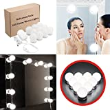 LED Vanity Mirror Lights Kit [Updated Version] KINGSO Cosmetic Makeup Dressing Vanity Table Set Mirror Lights with Dimmable 10 LED Bulbs, Lighting Fixture Strip - Natural White (Mirror Not Included)