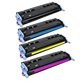 HQ Supplies OEM Quality HP 124A Q6000A Q6001A Q6002A Q6003A High Yield Toner Cartridge Set (BCYM) for HP Color LaserJet 1600 2600 2605 CM1015MFP CM1017mfp Series Printers, Office Central