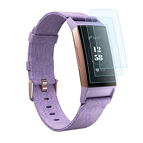 EXC Compatible Fitbit Charge 3 Screen Protector [6 Pack] TPU Screen Protector Saver Fitbit Charge 3 Activity Tracker No Bubbling Scratch Resistant Full Edge to Edge Coverage Screen Covers