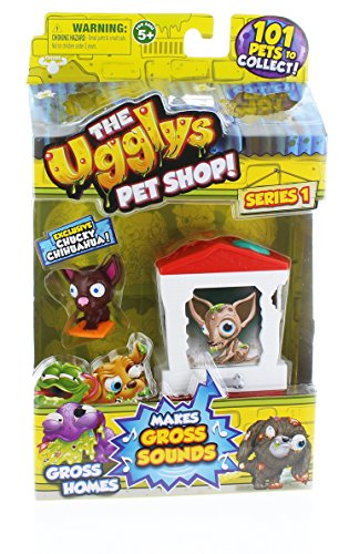 The Ugglys Pet Shop!, Series 1 Gross Homes, Bone Home with Exclusive Chucky Chihuahua