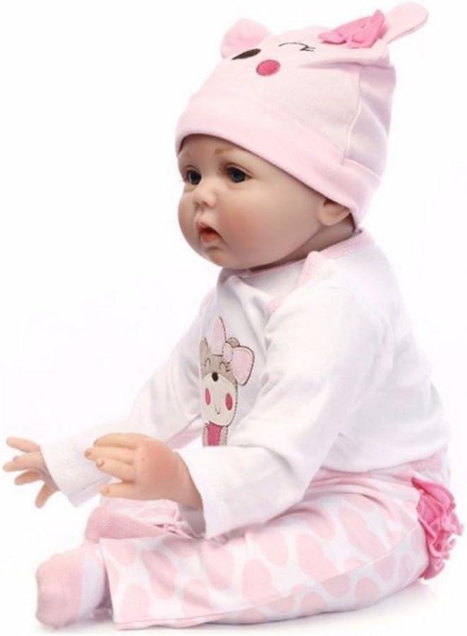in vinile,... Bambola reborn fatta a mano realistica corpo intero di 55 cm