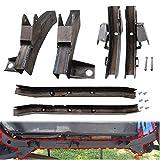 CNSY Rear Trail Arm Frame Rust Repair, Driver Passenger Center Skid Plate Frame Repair and Front Trail Arm Frame Rust Repair Fit for 1997-2006 Jeep Wrangler TJ