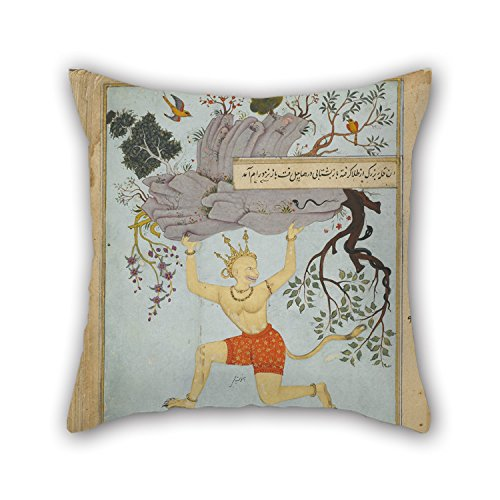 The Oil Painting Zayn Al'-'Abidin - Ramayana Of Valmiki, Vol. 2, Folio 236, Recto Cushion Cases Of 16 X 16 Inches / 40 By 40 Cm Decoration Gift For Husband Coffee House Bar Seat Couples Boys Gf (t