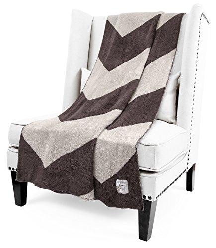 Little Giraffe Dolce Chevron Throw, Chocolateflax, 45'' x 59'' by Little Giraffe (Image #2)'