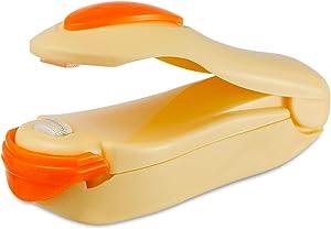Mini Bag Sealer Heat Seal, Handheld Food Sealer Bag Resealer Handheld Bag Heat Vacuum Sealer for Food Storage, Portable Smart Heat Sealer Machine for Chip Bags, Plastic Bags, Snack Bags